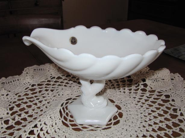 Authentic westmore milk glass gravy boat.