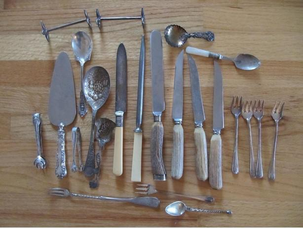 Vintage silverware.
