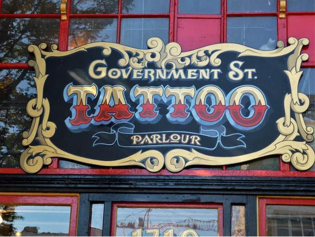 tattoo shop signs Outside Metro Vancouver, Vancouver