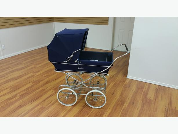 Vintage Silver Cloud Baby Carriage