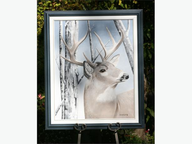 Whitetail Deer Original Oil Painting 2