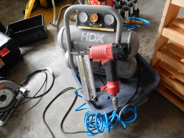HDX compressor and brad nailer