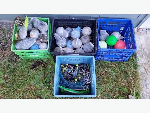 Used salmon fishing gear cannon balls for sale courtenay for Used fishing equipment for sale