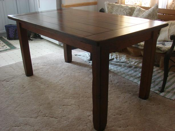 Harvest Table Solid Wood Excellent Condition - moving Oct 26th