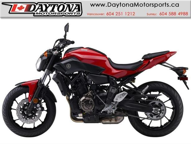2017 Yamaha FZ-07 ABS Sport Bike  * BRAND NEW -Red *