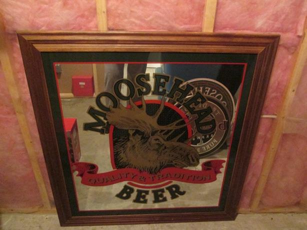 Very Large Beer Mirror and 2 beer signs