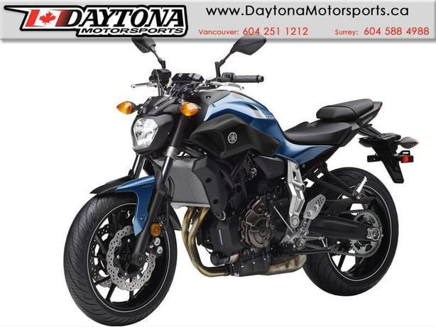2017 Yamaha FZ-07 ABS Sport Bike  * BRAND NEW -Blue *