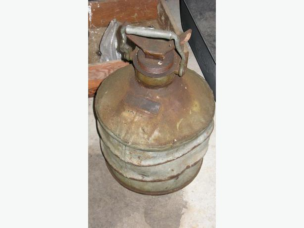 Large heavy oil can.
