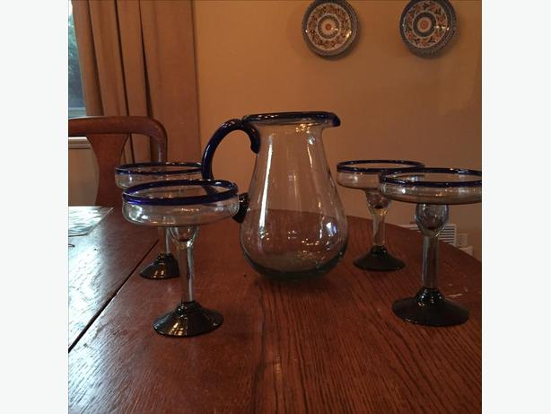 Margarita pitcher and glasses from Mexico