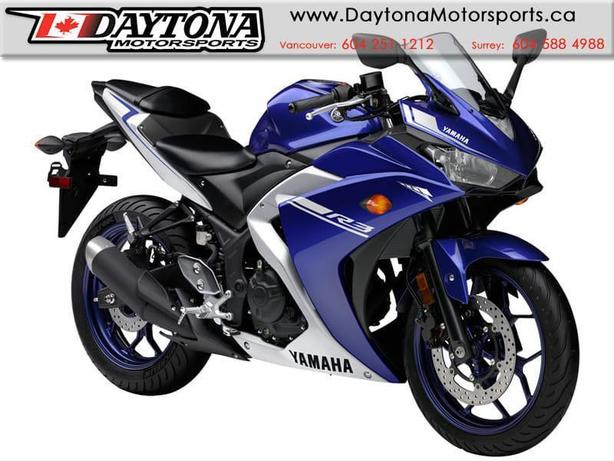 2017 Yamaha YZF-R3 Sport Bike  * BRAND NEW -Blue *