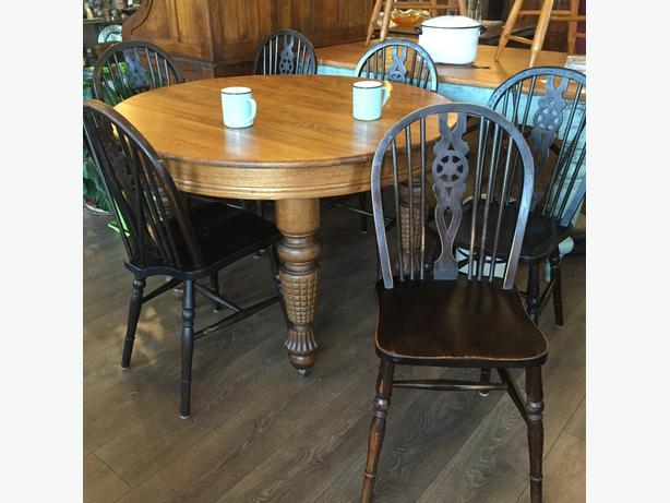 Set of 6 Wheel Back Chairs