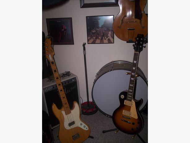 GUITAR , BASS , and DRUM