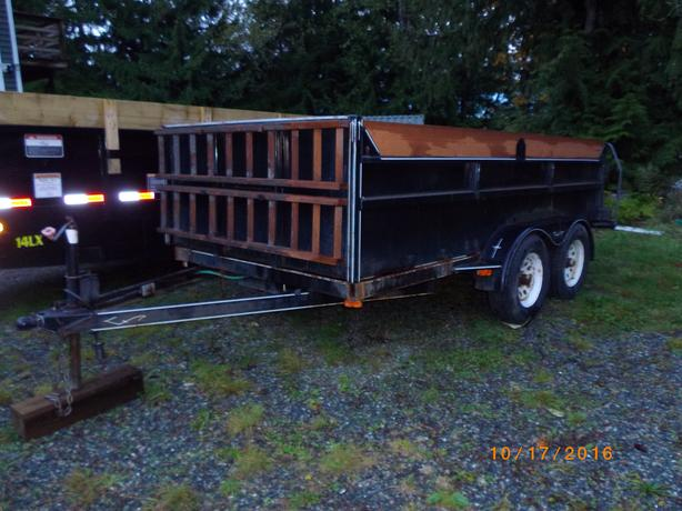 ** DUMP TRAILER ** 12' 1998 Express Custom Trailer scissor lift
