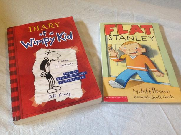 Flat Stanley and Diary of a Wimpy Kid Books