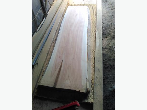 "62"" long live edge cedar slab"