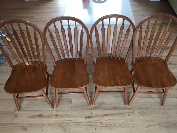 4 light oak dining chairs