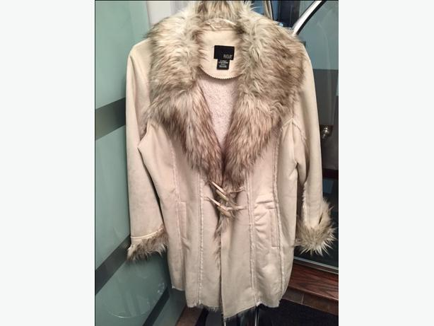 artificial fur coat XL