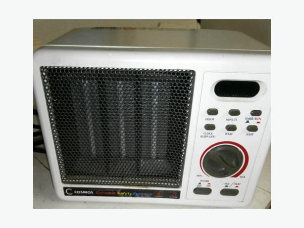 CERAMIC SAFETY FURNACE with heater, fan, timer and alarm