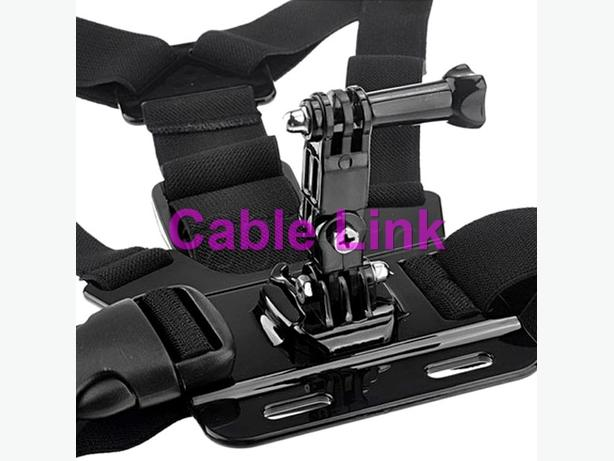 3-way Adjustable Base Gopro Hero Elastic Body Chest Strap Mount