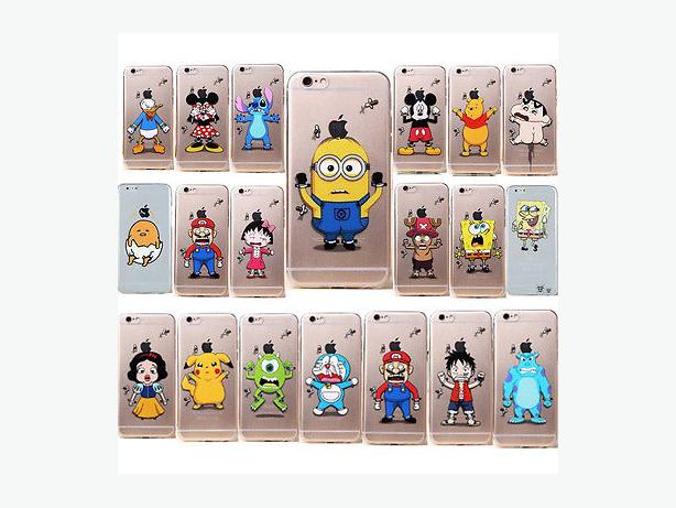 Transparent Cartoon TPU Soft Back Case For IPhone 5 5C 5S