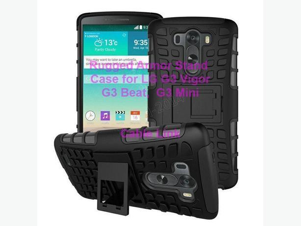New Heavy Duty Shockproof Rugged Armor Case for LG G3 Vigor
