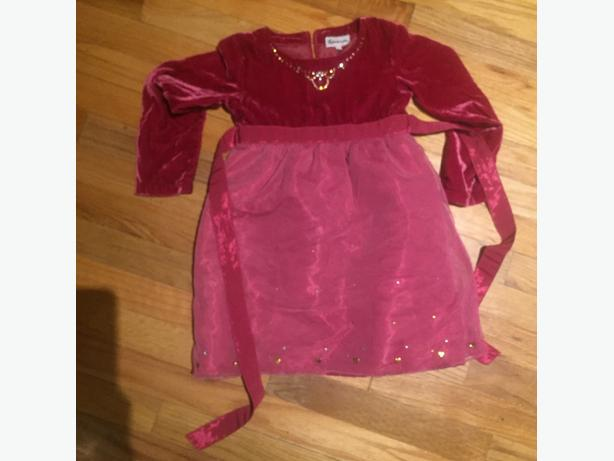 girls party dress size 4-5 small