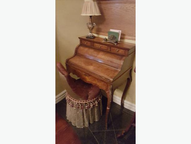 Antique Style Desk and Chair