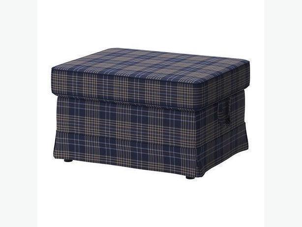 Ikea EKTORP Footstool Cover - Rutna Multicolor (402.652.39)