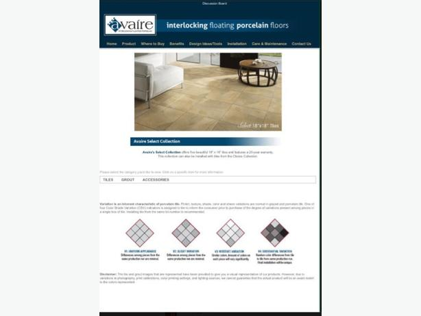 Porcelain floor tile snap system