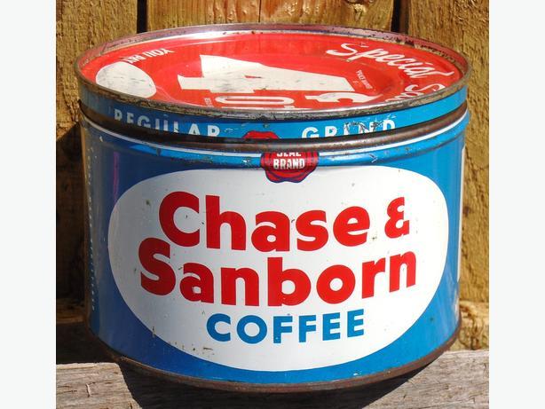 Vintage 1945's Chase & Sanborn Coffee (One Pound) Tin