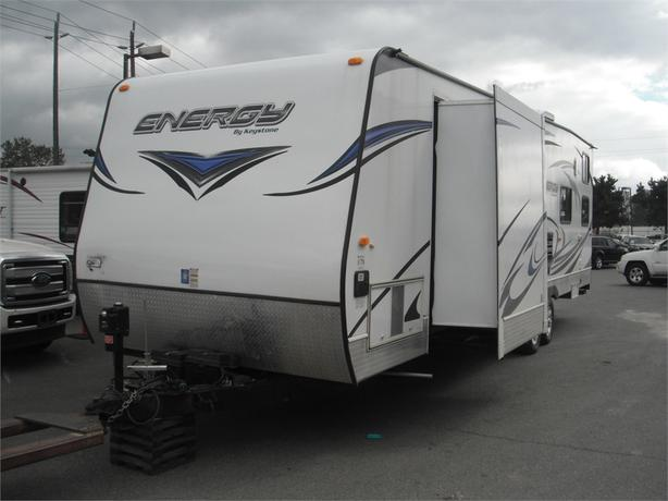 2014 Keystone Energy 257FBS 35 Foot Travel Trailer Toy Hauler
