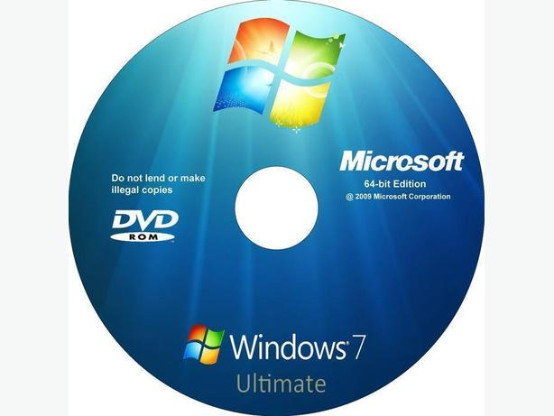 Windows 7 Ultimate DVD and genuine key, activation online