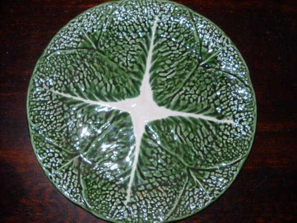 4U2C VINTAGE GREEN CABBAGE LEAF PLATE MADE IN PORTUGAL