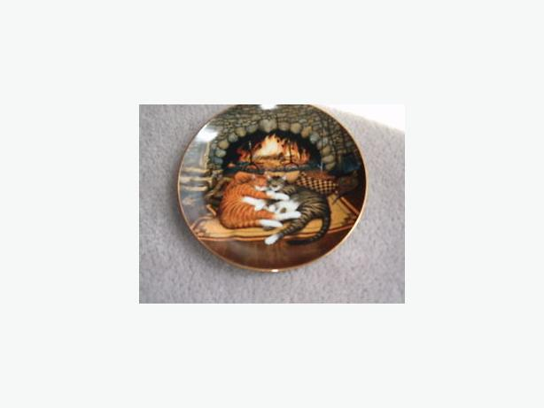 cat plate purr-fact pairs by Bradford change-