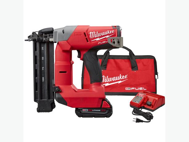 Milwaukee 18 ga Brad Nailer with battery and charger