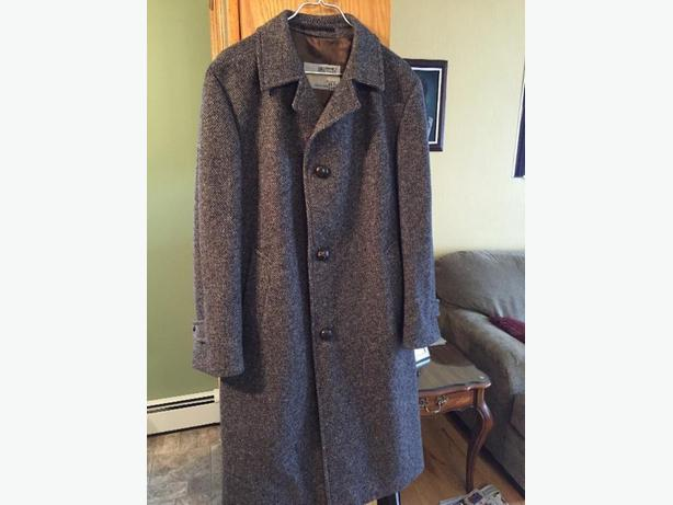 Mens wool winter overcoat