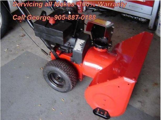 "George's SnowBlower Repair ""At Your Home Service"" 905-887-0188"