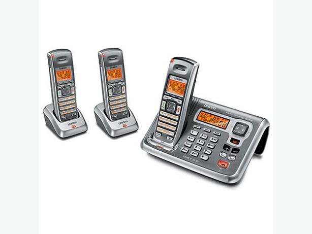3 handset cordless answering phone system