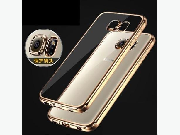 Luxury Electroplating Soft TPU Clear Case for Samsung Galaxy S7 G930
