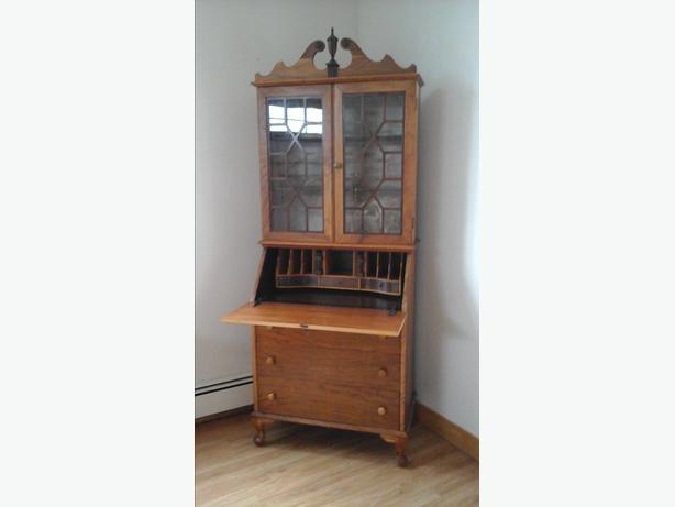 Mahogany Secretary Desk and Removal Bookcase