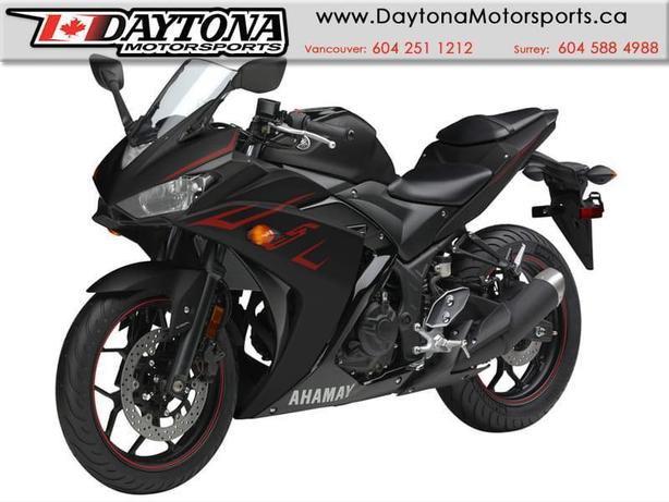 2017 Yamaha YZF-R3 ABS Sport Bike  * BRAND NEW -Black *