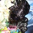 "Fish Ornament -- Holds Glass Fish Bowl - Stands 19"" High"
