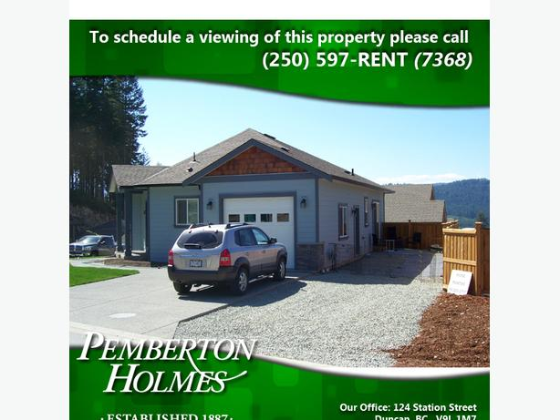 Home With Single Car Garage in Shawnigan Lake