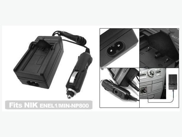 New 2in1 Wall&Car Charger for Nikon EN-EL1, EN-EL9 and more
