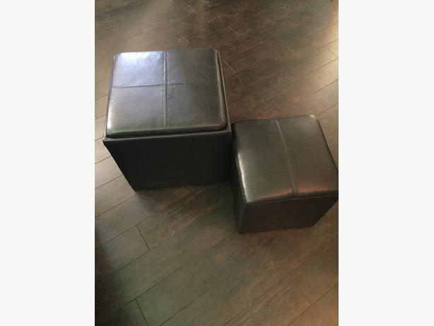 Brown ottoman (with small ottoman that fits inside)