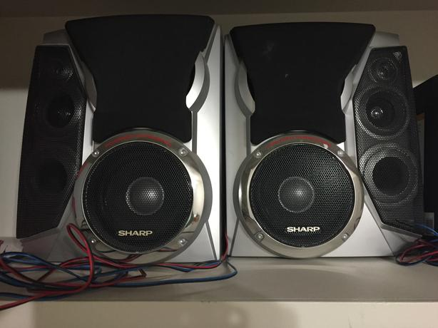 Sharp speakers with built in subwoofers