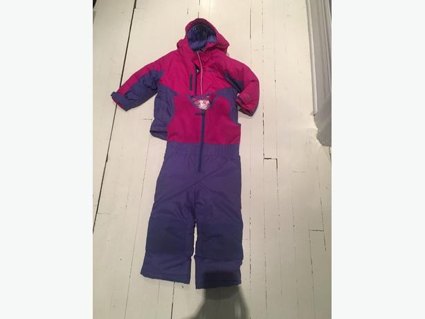 Girls Columbia two piece snowsuit size 2T