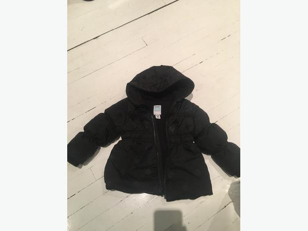 Girls Black Winter Jacket size 18-24 mos