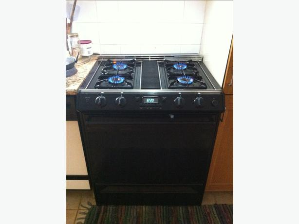 """Amana"" Gas Cooking Range with Down Draft with chanegable Burner"