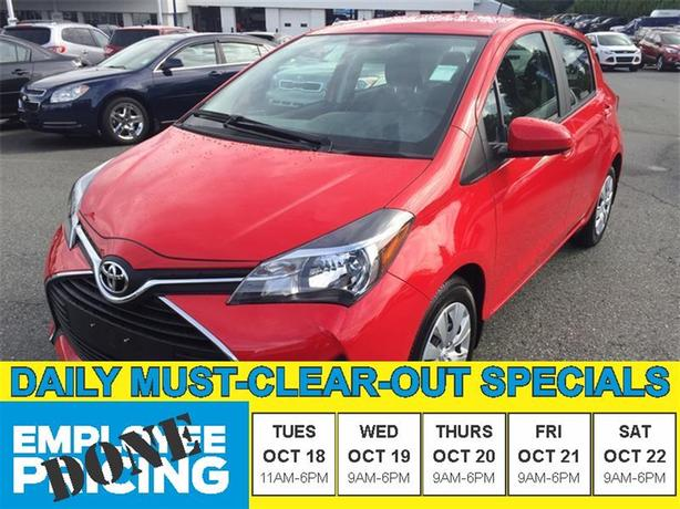 2015 Toyota Yaris LE - Low KMS!